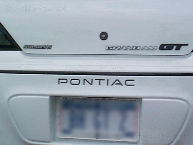 """Pontiac"" Rear Bumper Inlay"