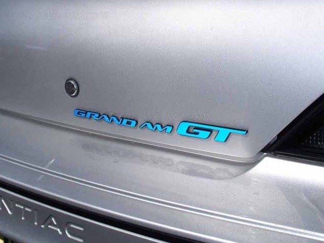 """Grand Am"" Trunk Badge Overlay"