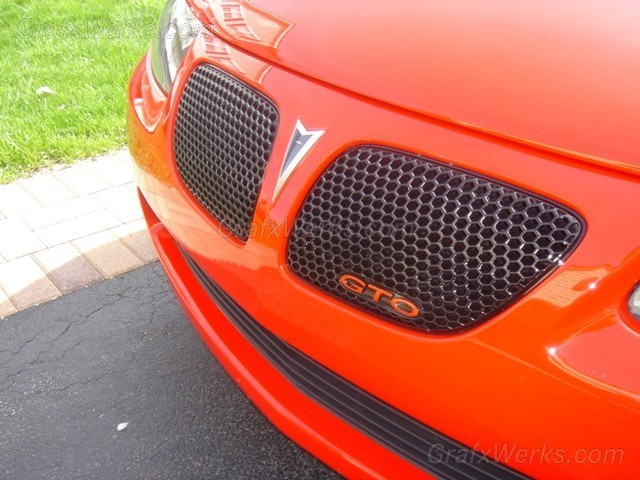 """GTO"" Front Grill Badge Overlay"