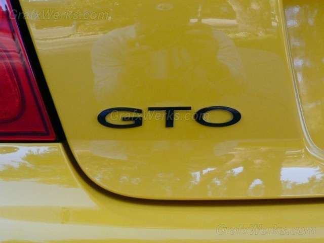 """GTO"" Trunk Badge Overlay"