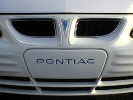 """Pontiac"" Front License Filler Plate Inlay"