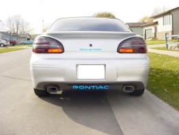 Pontiac Rear Bumper Inlay